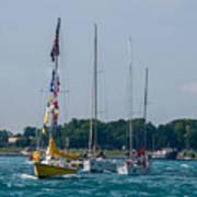 Sailing North Art Print