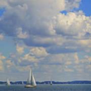 Sailing On Chiemsee Lake Art Print