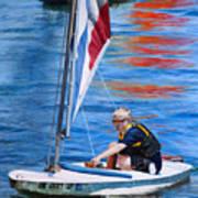 Sailing On Lake Thunderbird Art Print