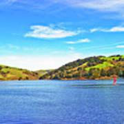 Sailing On San Pablo Dam Reservoir Art Print