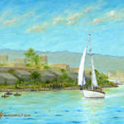 Sailing Out To Sea Art Print