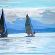 Sailing Race Art Print