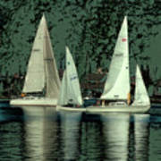 Sailing Reflections Art Print