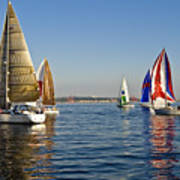 Sailing Seattle Art Print