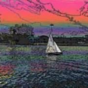 Sailing South Lake Union Art Print