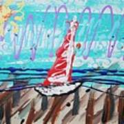 Sailing The Coast Abstract Art Print