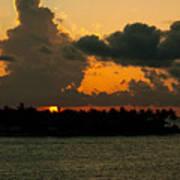 Sailing The Keys At Sunset Art Print