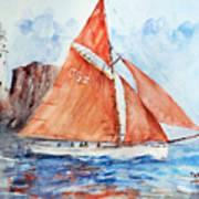 Sailing The Open Sea... Art Print
