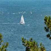 Sailing The Sea Of Marmara Art Print