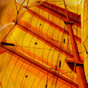 Sailing Through Gold Art Print