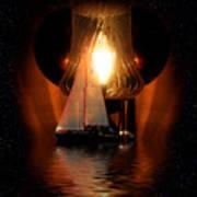 Sailing Under The Stars Art Print