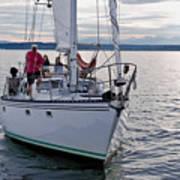 Sailing Up Art Print
