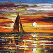 Sailing With The Sun Art Print