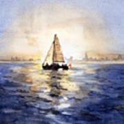 Sailor Eclipse Art Print