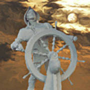 Sailor In Coming Storm Art Print