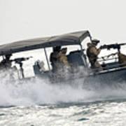 Sailors Patrol Kuwait Naval Bases Art Print