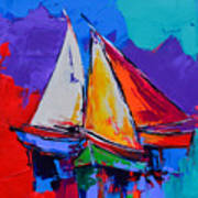 Sails Colors Art Print