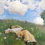 Saimi In The Meadow Art Print