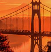 Saint John's Bridge At Sunrise Art Print