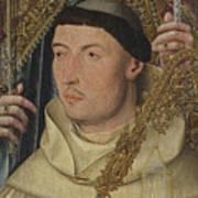 Saint Ambrose With Ambrosius Van Engelen   Art Print