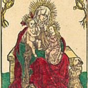 Saint Anne, The Madonna And Child, And A Franciscan Monk Art Print