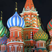 Saint Basils Cathedral On Red Square, Moscow Art Print