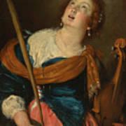 Saint Cecilia Art Print