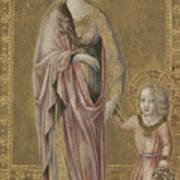 Saint Dorothy And The Infant Christ Art Print