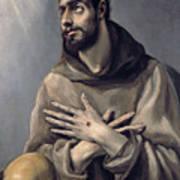 Saint Francis In Ecstasy Art Print