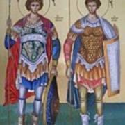 Saint George And Saint Dimitrios Art Print