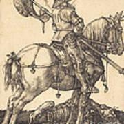 Saint George On Horseback Art Print
