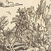 Saint George Slaying The Dragon Art Print