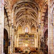Saint Isidore - Romanesque Temple Altar And Vault - Vintage Version Art Print