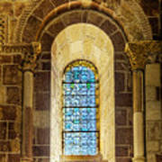 Saint Isidore - Romanesque Window With Stained Glass Art Print