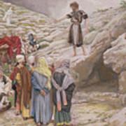 Saint John The Baptist And The Pharisees Art Print by Tissot