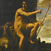 Saint John The Baptist In The Wilderness Art Print