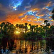 Saint Lucie River Sunset Art Print