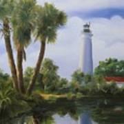 Saint Marks Lighthouse Florida Art Print