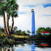 Saint Marks River Light House Art Print