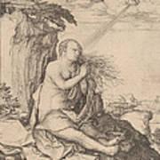 Saint Mary Magdalene In The Desert Art Print