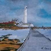 Saint Mary's Lighthouse Art Print