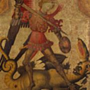 Saint Michael And The Dragon Art Print