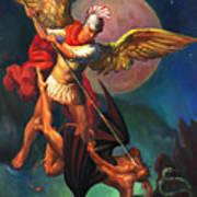 Saint Michael The Warrior Archangel Art Print