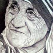 Mother Teresa Saint Of Calcutta  Art Print