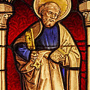 Saint Peter  Stained Glass Art Print