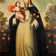 Saint Rose Of Lima With Child Jesus Art Print