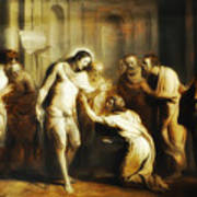 Saint Thomas Touching Christ's Wounds Art Print