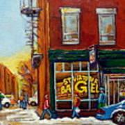 Saint Viareur And Park Avenue Bagel Shop Art Print