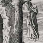 Saint Victorinus Does Penance Art Print
