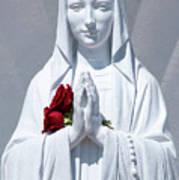 Saint Virgin Mary Statue #1 Art Print